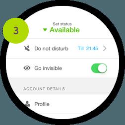 Set your availability